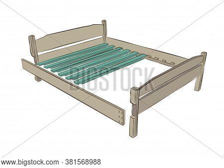 Platform Bed Construction Details. Construction Truck Bed. Wood Panel Bed Parts Accessories. Slats W