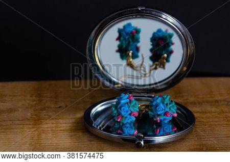 Cold Ceramic Earrings, Handmade. French Porcelain. Craftsmanship.