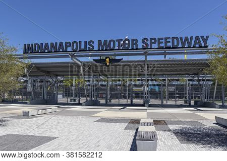 Indianapolis - Circa August 2020: Gate One Entrance At Indianapolis Motor Speedway. Ims Ran The Indy