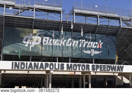 Indianapolis - Circa August 2020: Gate Two Entrance At Indianapolis Motor Speedway. Ims Ran The Indy
