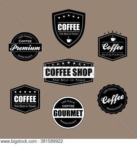 Illustration Labels Coffee, Shop, The Best in Town, Illustration Labels Coffee, cappuccino, best quality, organic, coffee shop, premium, etiqueta cafe, cafe, cafeteria, the best in town, loja, lanchonete, placa, grao, xicara, estrela