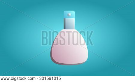 Trendy Beautiful Beauty Glamorous Trendy Pink Fragrant Tasty Perfume Cologne On A Blue Background. V