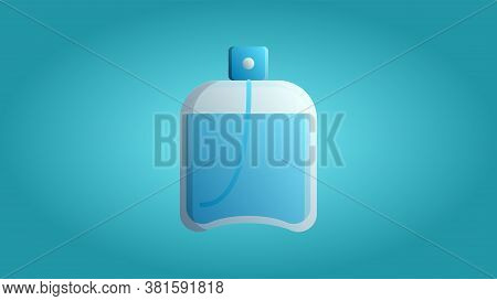 Trendy Beautiful Beauty Glamorous Trendy Blue Fragrant Tasty Perfume Cologne On A Blue Background. V