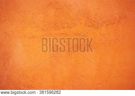 Cement Orange Background, Abstract Background, Orange Plaster Wall Texture For Background, Orange Wa