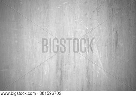 Black And White Background Of Old Plywood Texture, Old Plywood Surface Made Into A Black And White I