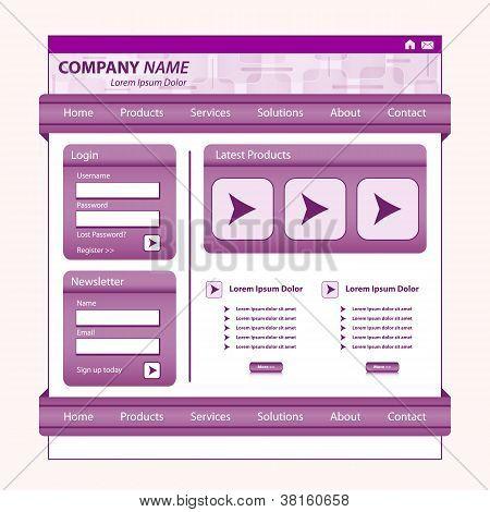 Website Template Design Purple