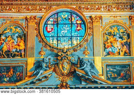Rome, Italy - May 08, 2017 : Inside The Basilica Of Santa Maria Maggiore (on Piazza Di Santa Maria M