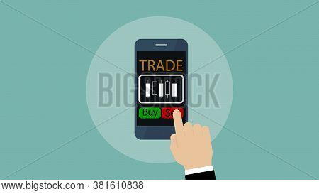 Mobile Exchange Trading App, Forex Exchange On Smartphone, Investment Concept.