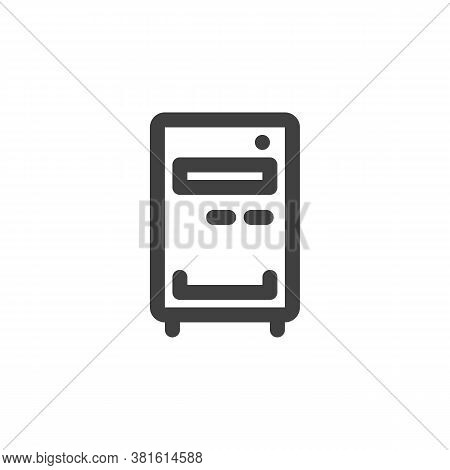 Computer Case Line Icon. Linear Style Sign For Mobile Concept And Web Design. Pc Case, Workstation O