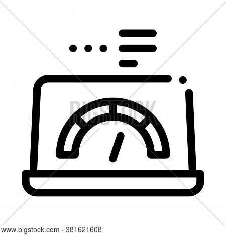 High Speed Load Web Site Icon Vector. High Speed Load Web Site Sign. Isolated Contour Symbol Illustr