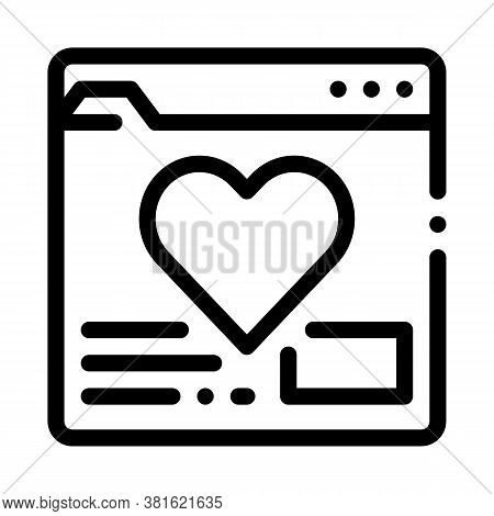 Creature Dating Site Icon Vector. Creature Dating Site Sign. Isolated Contour Symbol Illustration