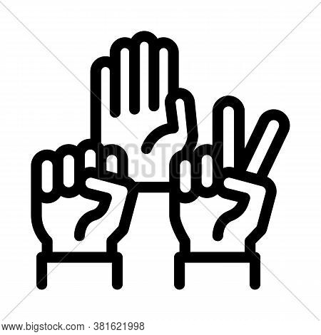 Human Hands Race Gestures Icon Vector. Human Hands Race Gestures Sign. Isolated Contour Symbol Illus