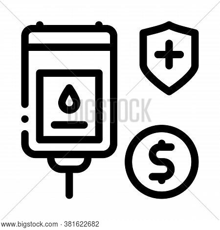 Blood Transfusion Icon Vector. Blood Transfusion Sign. Isolated Contour Symbol Illustration