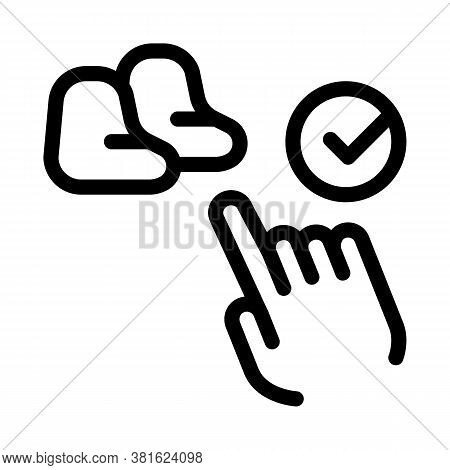 Chair Bag Choice Icon Vector. Chair Bag Choice Sign. Isolated Contour Symbol Illustration