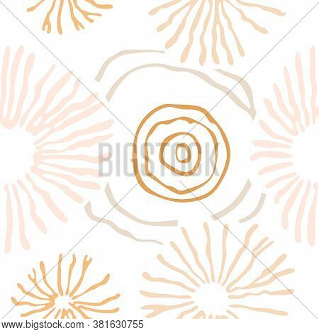 Spores Seamless Pattern. Trendy Organic Vector Shapes Over Transparent Background.