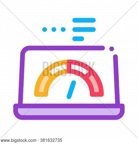 High Speed Load Web Site Icon Vector. High Speed Load Web Site Sign. Color Symbol Illustration