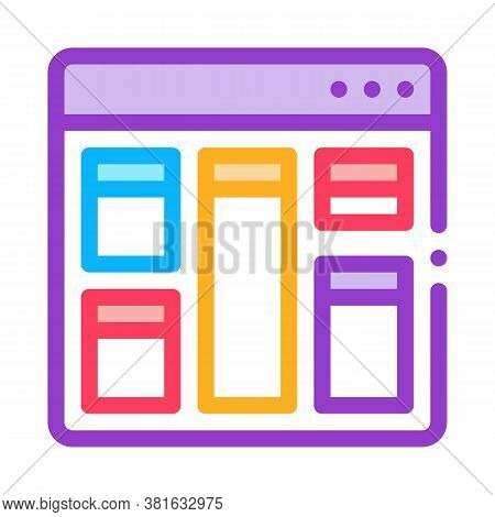 Web Site Layout Icon Vector. Web Site Layout Sign. Color Symbol Illustration