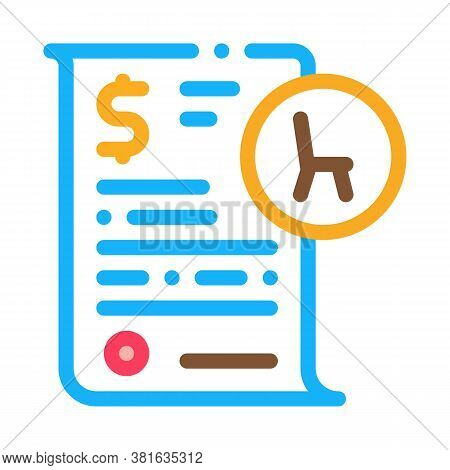 Buying Agreement Icon Vector. Buying Agreement Sign. Color Symbol Illustration