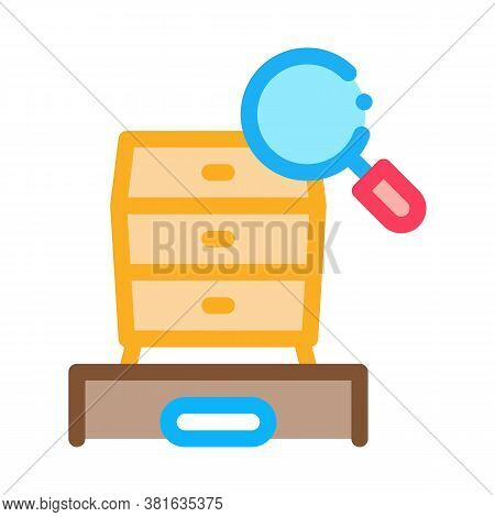 Commode Research Icon Vector. Commode Research Sign. Color Symbol Illustration