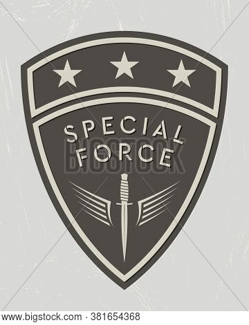 Military Logo. Army Patch. Design Elements For Military Style Jackets, Shirt And T-shirts