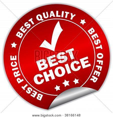 Vektor-beste Wahl-Aufkleber