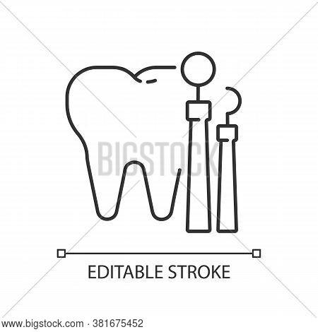 Dentistry Linear Icon. Dental Medicine And Health. Stomatology. Teeth Treatment. Oral Medicine. Thin
