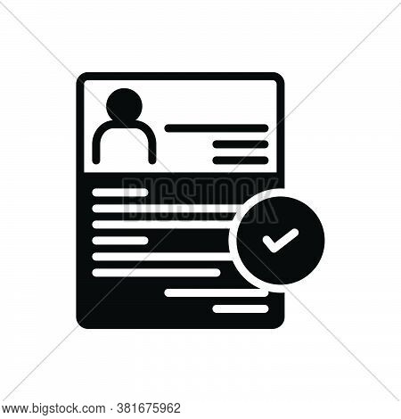 Black Solid Icon For Recruitment Enlistment Enrolment Conscription Mince Recruitment Registration