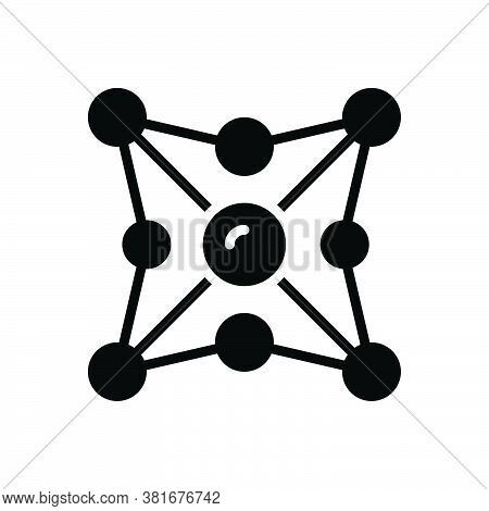 Black Solid Icon For Networking Network Organization Web Net Grid Cyber Internet Collaboration Inter