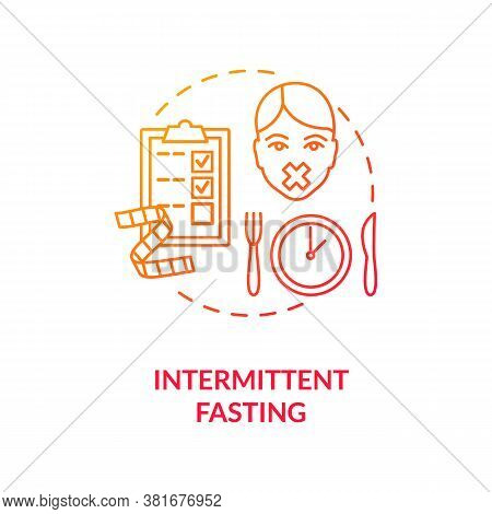 Intermittent Fasting Concept Icon. Biohacking, Nutrition Management Idea Thin Line Illustration. Bod