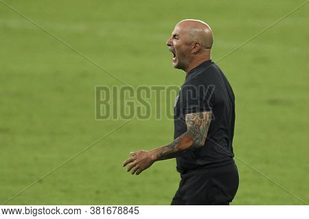 Rio, Brazil - August 19, 2020: Jorge Sampaoli Coach In Match Between Botafogo And Atletico-mg By Bra