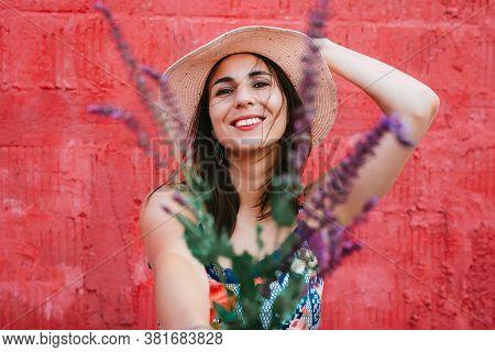 Beautiful Woman Portrait. Beauty Woman Face Portrait. Beautiful Model Woman Portrait. Woman Smiling