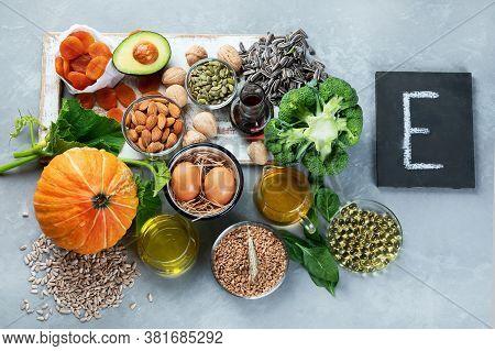 Food Containing Natural Vitamin E
