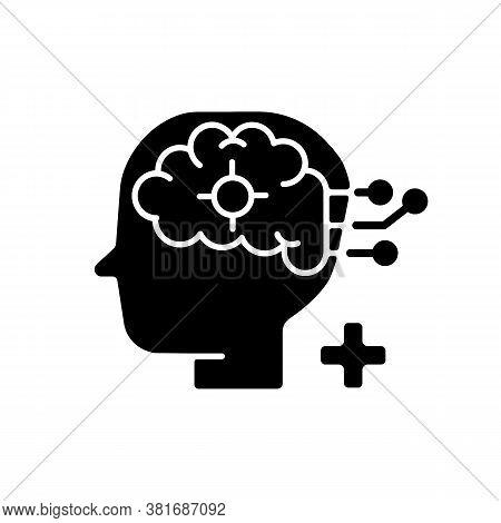 Neurological Department Black Glyph Icon. Neurological Science And Surgery. Brain Disorders. Neurolo