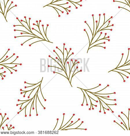 Seamless Pattern. For Wallpaper Design. Holiday Decoration. Holiday Frame, Border. Christmas Backgro