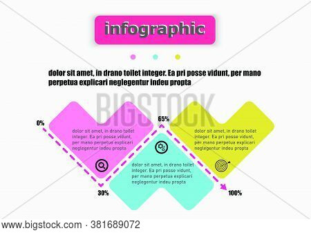 Pattern Heart Vector Template Design Icon Flow Charts Graphic. Planning Presentation Business Infogr