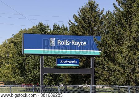 Indianapolis - Circa August 2020: Rolls-Royce LibertyWorks plant. Rolls-Royce is a Global Company Providing Jet and Gas Turbine Engines.