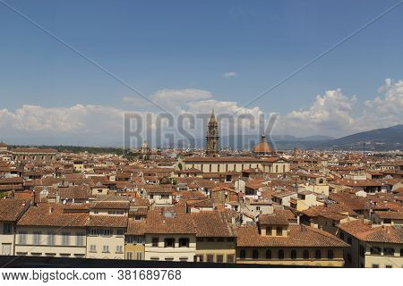 View Of Florence From Boboli Gardens. High Quality Photo