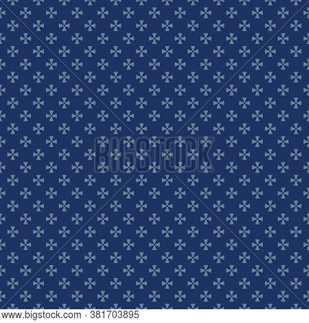 Simple Minimalist Seamless Pattern. Vector Abstract Geometric Floral Background. Subtle Ornament Tex