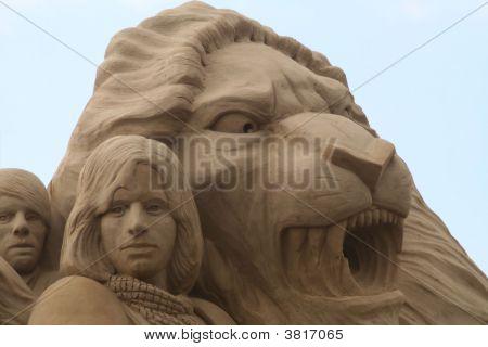 Sandsculpure Lion