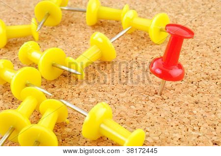 Push Pin Red Color