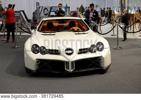 Dubai, Uae - November 16: The Mercedes-benz Slr Mclaren Sport Car Is On Dubai Motor Show 2019 On Nov