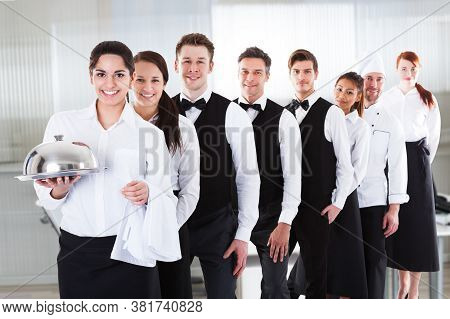 Diverse Hotel Staff And Hospitality Employee Group