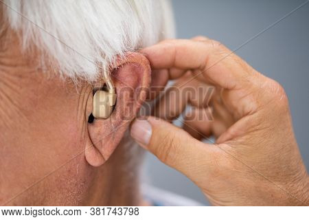 Hear Disability Problems. Assistive Ear Audiology Technologies