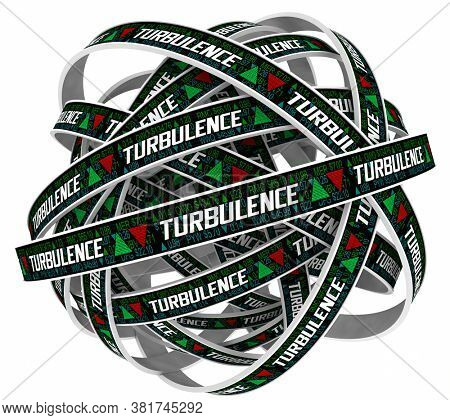 Turbulence Stock Market Prices Volatility Ups Downs Trends Cycle 3d Illustration