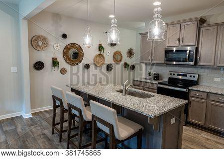 New Kitchen In Modern Townhouse