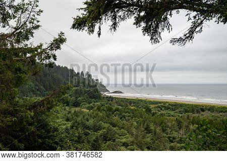 Beards Hollow Overlook At Cape Disappointment State Park, Washington State