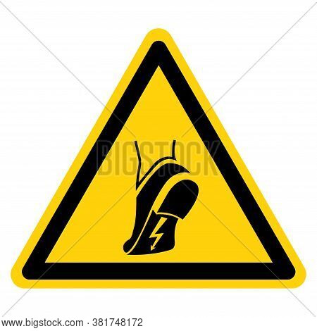 Warning Wear Anti Static Shoes Symbol Sign ,vector Illustration, Isolate On White Background Label.