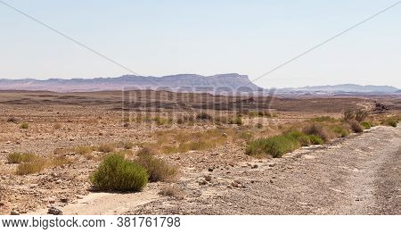 A View Of The Judean Desert From Haminsara - A Sandstone Hill In The Ramon Crater Area, Formed By Th