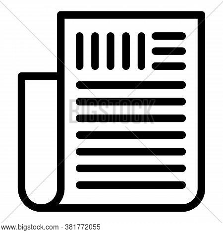 Agreement Icon. Outline Agreement Vector Icon For Web Design Isolated On White Background