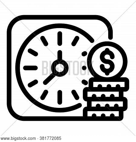 Retirement Plan Icon. Outline Retirement Plan Vector Icon For Web Design Isolated On White Backgroun